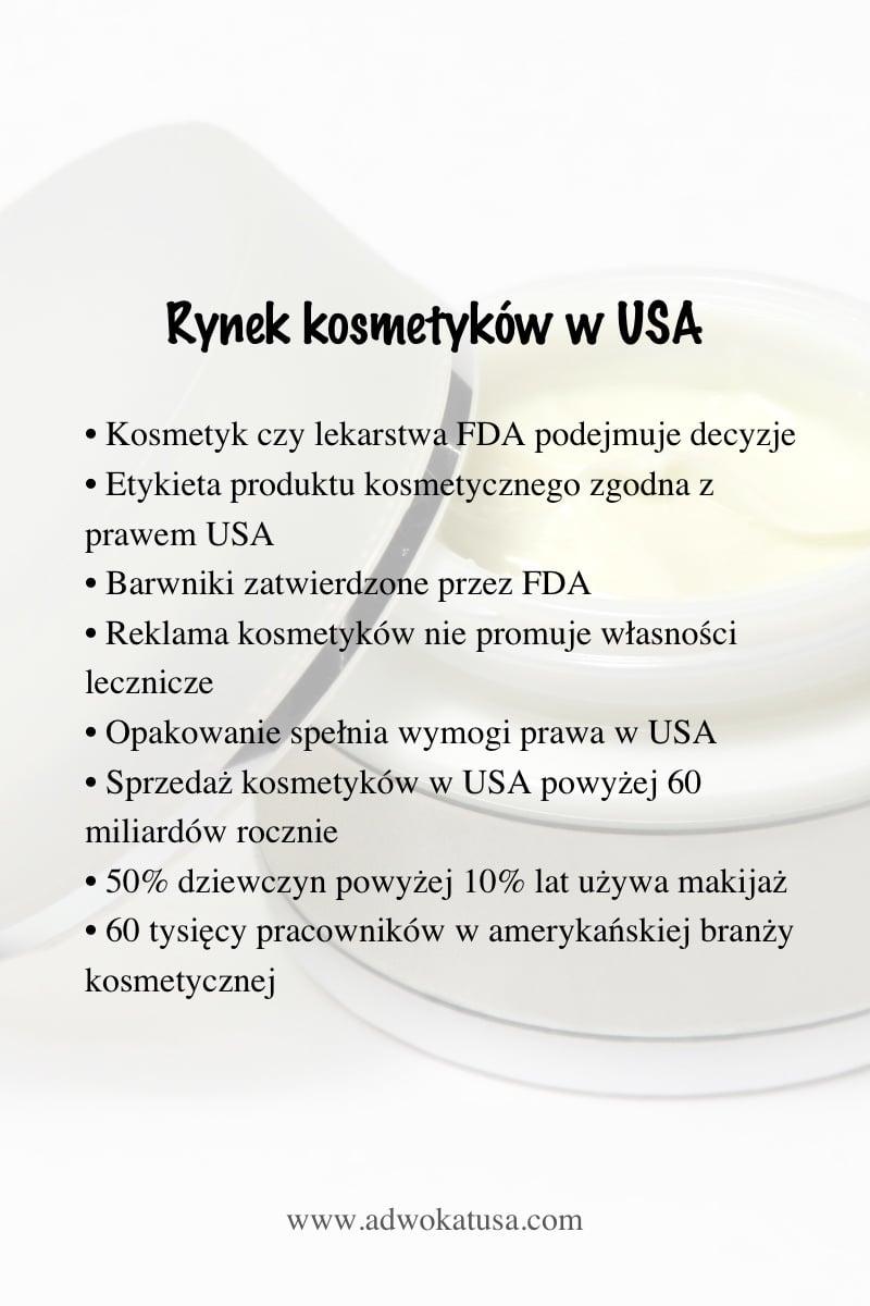 kosmetyki rynek usa wymogi prawne