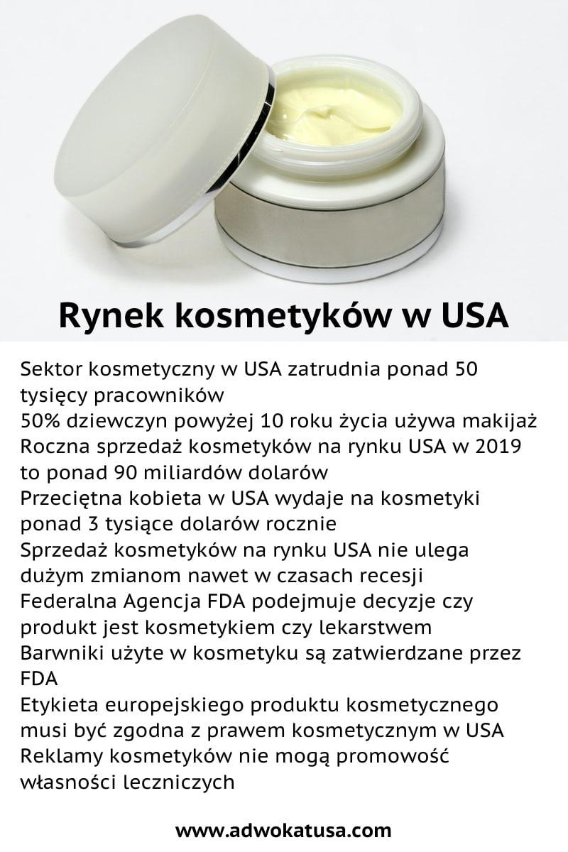 sprzedaż kosmetyków usa